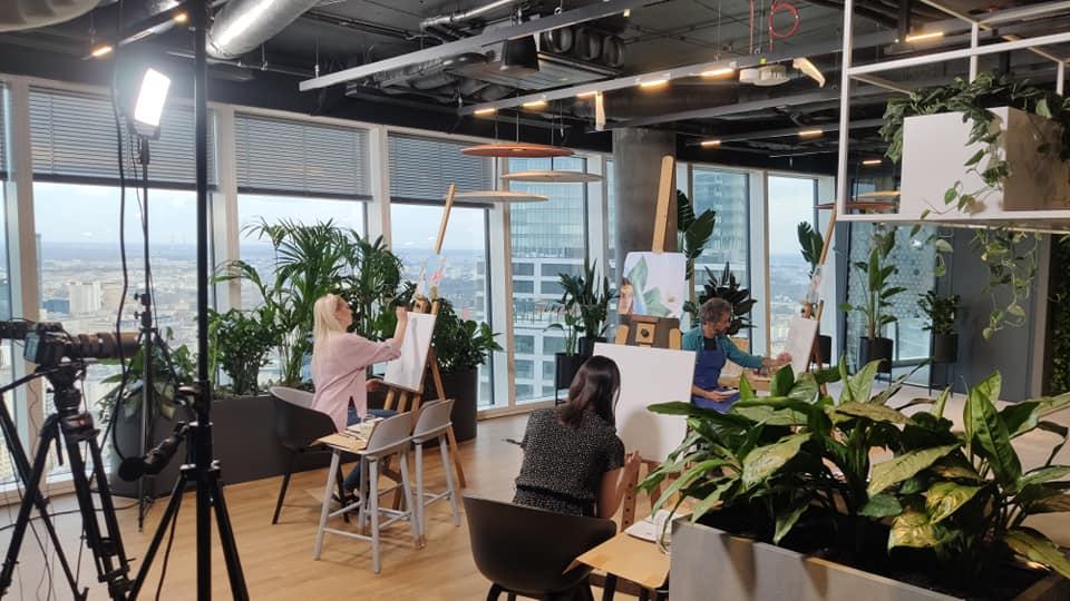 Profesjonalna transmisja z warsztatów online ART EVENT